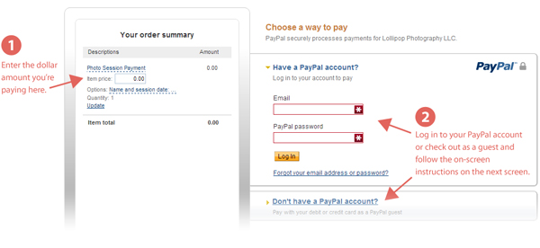 PayPal-page